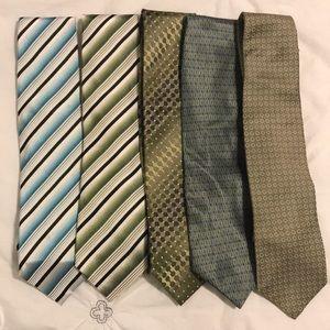 Set of 5 Alfani Ties